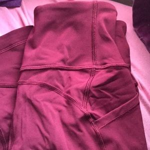 lululemon athletica Jeans - Ruby wine like new ATRP